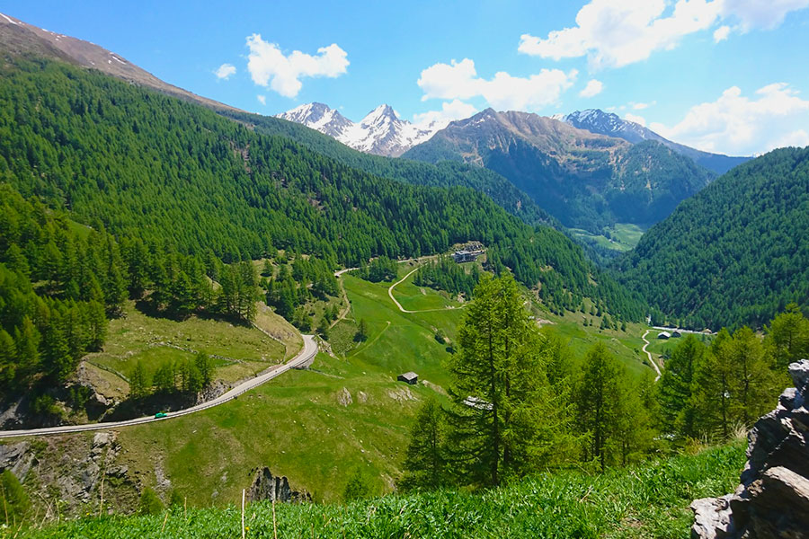 Passstrasse, Panorama, Berge