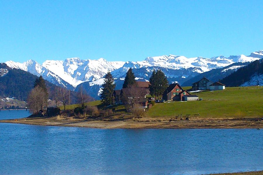See, Berge, Alpen, Panorama